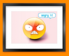 Angry Emoticon Framed Print