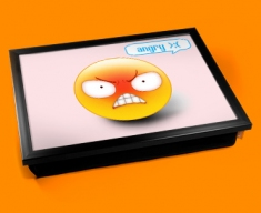 Angry Emoticon Lap Tray