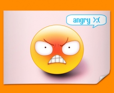 Angry Emoticon Poster