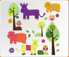Animal Friends Set Wall Sticker