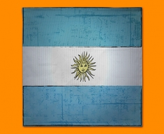 Argentina Flag Napkins (Set of 4)