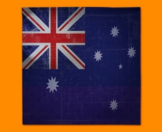 Australia Flag Napkins (Set of 4)