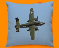 B 25 Mitchell North American Aviation Plane Sofa Cushion