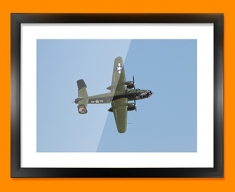 B 25 Mitchell North American Aviation Plane Framed Print