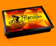 BMX Personalised Childrens Name Cushion Lap Tray