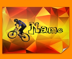 BMX Personalised Childrens Name Poster