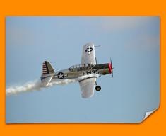 BT 13 Valiant Vultee Plane Poster