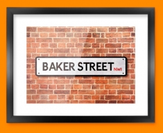 Baker Street UK Street Sign Framed Print