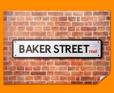 Baker Street UK Street Sign Poster