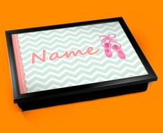 Ballet Personalised Childrens Name Cushion Lap Tray