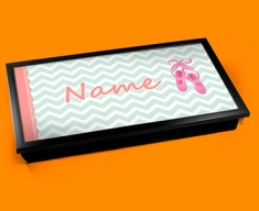 Ballet Personalised Childrens Name Cushioned Laptop Lap Tray