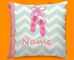 Ballet Personalised Childrens Name Sofa Cushion