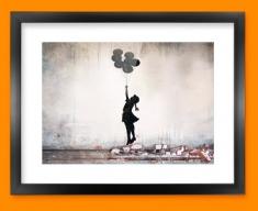 Banksy Balloons Framed Print