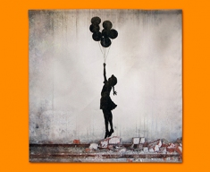 Banksy Balloons Napkins (Set of 4)