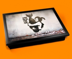 Banksy Bomb Hug Cushion Lap Tray