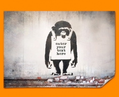 Banksy Chimp Custom Poster