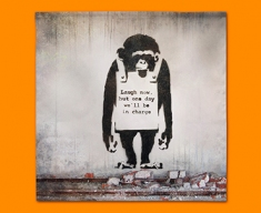 Banksy Chimp Napkins (Set of 4)