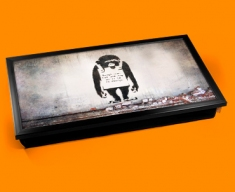 Banksy Chimp in Charge Laptop Tray