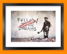 Banksy Dreams Cancelled Framed Print