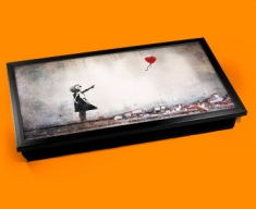 Banksy Heart Balloon Laptop Tray