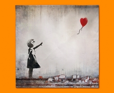 Banksy Heart Balloon Napkins (Set of 4)