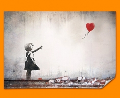 Banksy Heart Balloon Poster