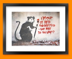 Banksy Out of Bed Rat Framed Print