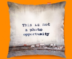 Banksy Photo Opportunity Funky Sofa Cushion 45x45cm