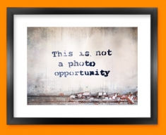 Banksy Photo Opportunity Framed Print