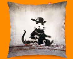 Banksy Rap Rat Funky Sofa Cushion 45x45cm