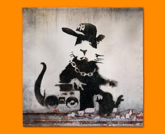 Banksy Rap Rat Napkins (Set of 4)