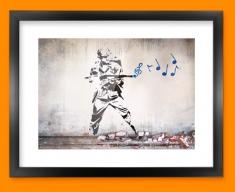 Banksy Soldier Framed Print