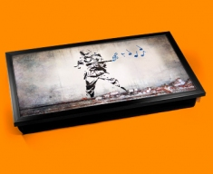 Banksy Soldier Music Laptop Tray