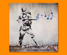 Banksy Soldier Napkins (Set of 4)