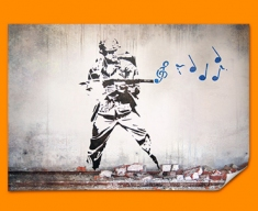 Banksy Soldier Poster