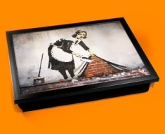 Banksy Street Maid Cushion Lap Tray