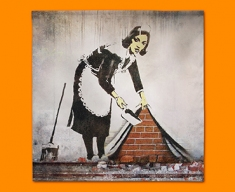 Banksy Street Maid Napkins (Set of 4)
