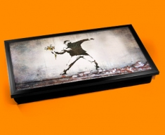Banksy Thug Flowers Laptop Tray