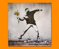 Banksy Thug Flowers Napkins (Set of 4)