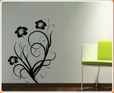 Baroque Flower 5 Wall Sticker