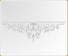Baroque Mantle Wall Sticker