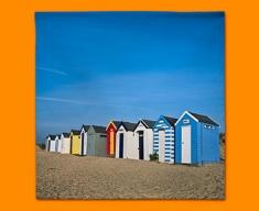 Beach Huts Napkins (Set of 4)