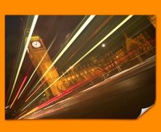 Big Ben Traffic Poster