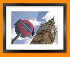 Big Ben Underground Framed Print