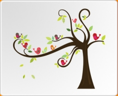 Birds in a Tree Wall Sticker