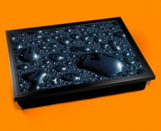 Black Rain Cushion Lap Tray