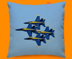 Blue Angels Plane Sofa Cushion