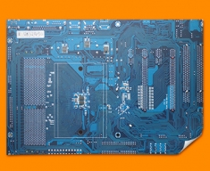 Blue Circuitboard Poster