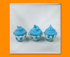 Blue Cupcakes Napkins (Set of 4)