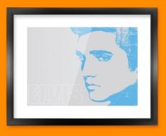 Blue Elvis Framed Print